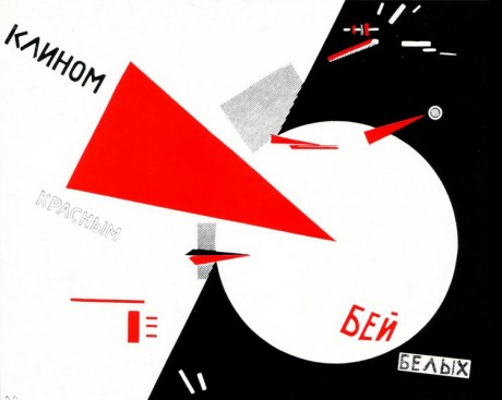 El Lissitzky_Beat the Whites with the Red Wedge